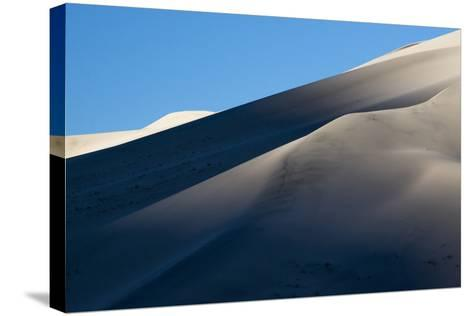 California. Death Valley National Park. Early Morning Light on Eureka Sand Dunes-Judith Zimmerman-Stretched Canvas Print