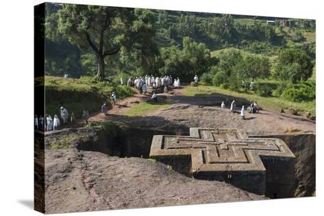 Africa, Ethiopian Highlands, Eastern Amhara, Lalibela, St-Ellen Goff-Stretched Canvas Print