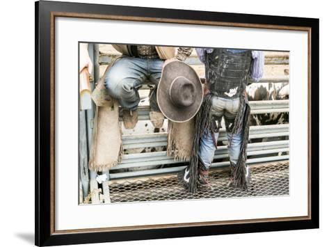 Cowboy Competitor in His Riding Regalia, Taos, New Mexico-Julien McRoberts-Framed Art Print
