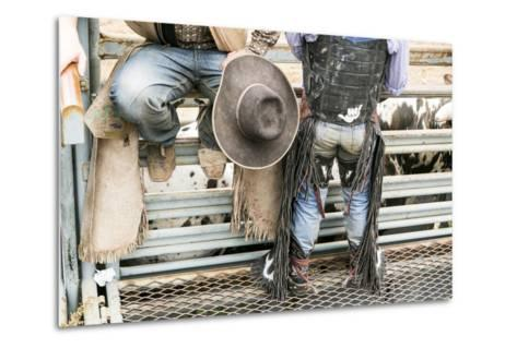Cowboy Competitor in His Riding Regalia, Taos, New Mexico-Julien McRoberts-Metal Print