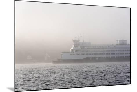 Washington State, Puget Sound. Ferry Emerges from Dense Fog-Trish Drury-Mounted Photographic Print