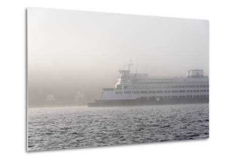 Washington State, Puget Sound. Ferry Emerges from Dense Fog-Trish Drury-Metal Print