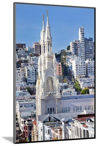 Saint Peter and Paul Catholic Church Steeples Houses San Francisco, California-William Perry-Mounted Photographic Print