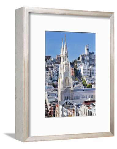 Saint Peter and Paul Catholic Church Steeples Houses San Francisco, California-William Perry-Framed Art Print
