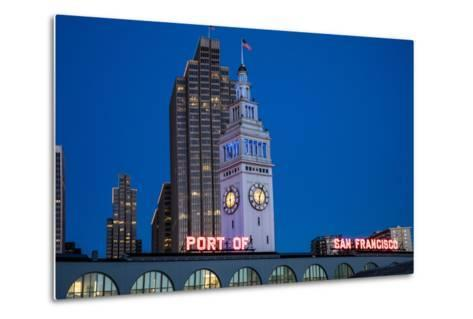 The Ferry Building on the Embarcadero in San Francisco, California, Usa-Chuck Haney-Metal Print