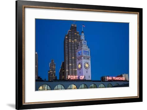 The Ferry Building on the Embarcadero in San Francisco, California, Usa-Chuck Haney-Framed Art Print