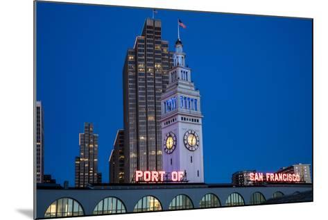 The Ferry Building on the Embarcadero in San Francisco, California, Usa-Chuck Haney-Mounted Photographic Print