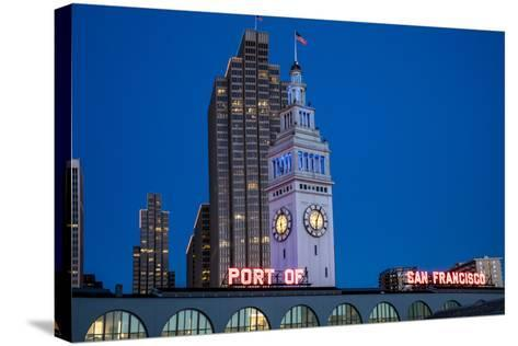 The Ferry Building on the Embarcadero in San Francisco, California, Usa-Chuck Haney-Stretched Canvas Print
