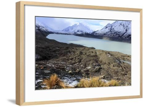 The Beautiful Mueller Glacier Lake at the Head of the Kea Point Track in Mt-Paul Dymond-Framed Art Print