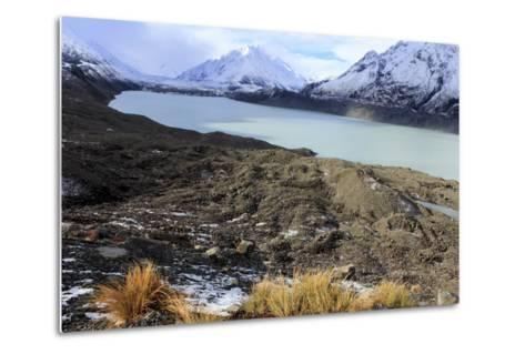 The Beautiful Mueller Glacier Lake at the Head of the Kea Point Track in Mt-Paul Dymond-Metal Print