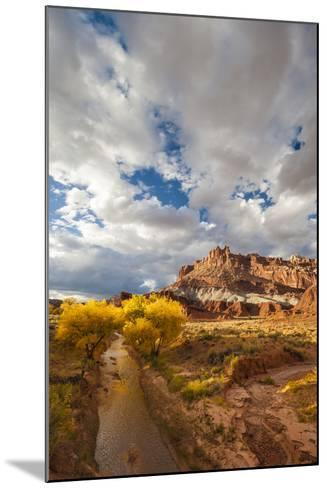 Capital Reef National Park. Autumn Reflections, the Castle and Sulphur Creek-Judith Zimmerman-Mounted Photographic Print
