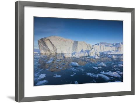 Greenland, Disko Bay, Ilulissat, Floating Ice at Sunset-Walter Bibikow-Framed Art Print