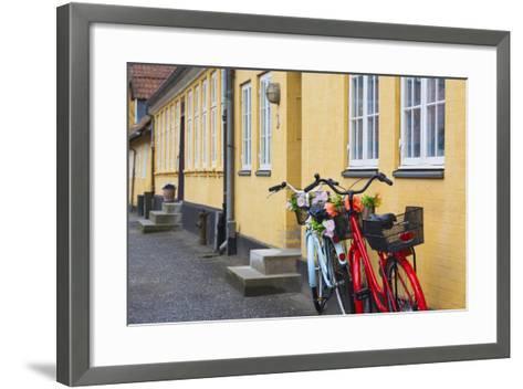 Denmark, Zealand, Soro, Traditional Danish Houses, Sogade Street-Walter Bibikow-Framed Art Print