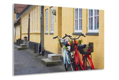 Denmark, Zealand, Soro, Traditional Danish Houses, Sogade Street-Walter Bibikow-Metal Print