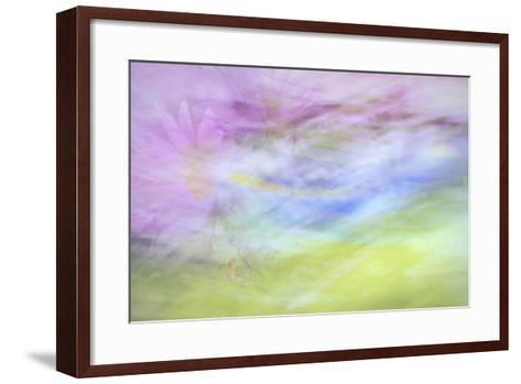 Washington State, Seabeck. Abstract of Flowers in Motion-Jaynes Gallery-Framed Art Print