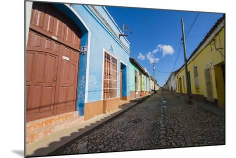 Cuba. Casa Particulares Line the Street, Shown by their Particular Logo Above the Street Number-Inger Hogstrom-Mounted Photographic Print