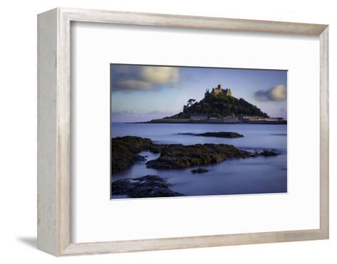 Twilight over Saint Michael's Mount, Marazion, Cornwall, England, Uk-Brian Jannsen-Framed Art Print