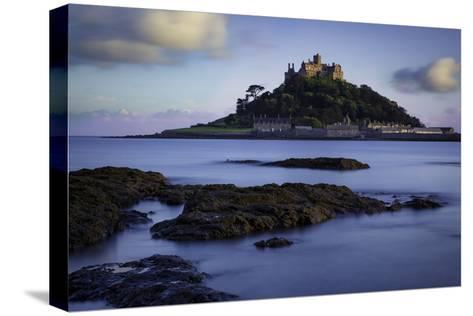 Twilight over Saint Michael's Mount, Marazion, Cornwall, England, Uk-Brian Jannsen-Stretched Canvas Print