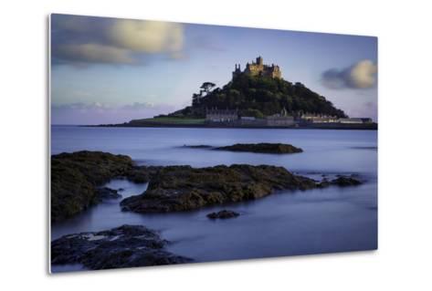 Twilight over Saint Michael's Mount, Marazion, Cornwall, England, Uk-Brian Jannsen-Metal Print