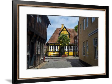 Ancient Houses in Ribe, Denmark's Oldest Surviving City, Jutland, Denmark-Michael Runkel-Framed Art Print