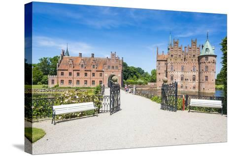 Walkway to Castle Egeskov, Denmark-Michael Runkel-Stretched Canvas Print