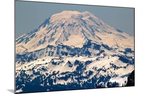 Snowy Mount Saint Adams Mountain Glacier from Crystal Mountain-William Perry-Mounted Photographic Print