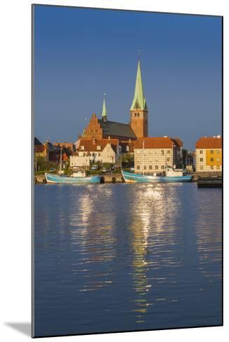 Denmark, Zealand, Helsingor, Town View and Sankt Olai Domkirke Church, Dawn-Walter Bibikow-Mounted Photographic Print