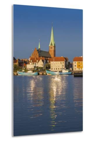 Denmark, Zealand, Helsingor, Town View and Sankt Olai Domkirke Church, Dawn-Walter Bibikow-Metal Print