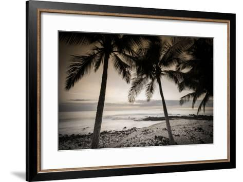 Coconut Palms and Surf at Dusk, Kailua-Kona, Hawaii, Usa-Russ Bishop-Framed Art Print