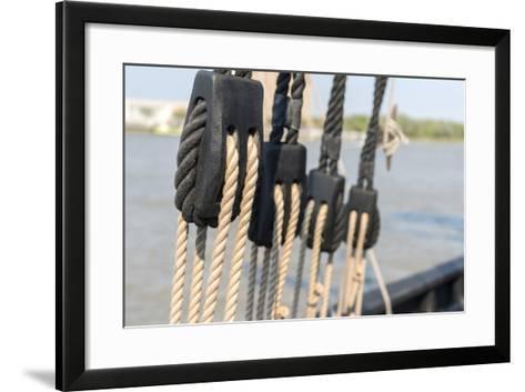 Georgia, Savannah, Caravel, Pinta, Savannah River-Jim Engelbrecht-Framed Art Print