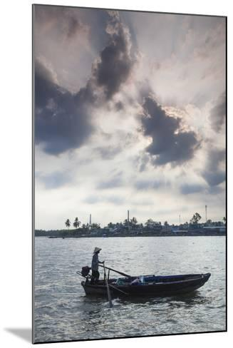 Vietnam, Mekong Delta. Can Tho, Riverside Port Area, Can Tho River-Walter Bibikow-Mounted Photographic Print