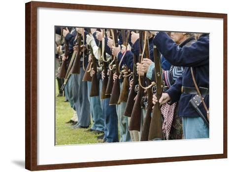 Union Soldiers at the Thunder on the Roanoke Civil War Reenactment in Plymouth, North Carolina-Michael DeFreitas-Framed Art Print