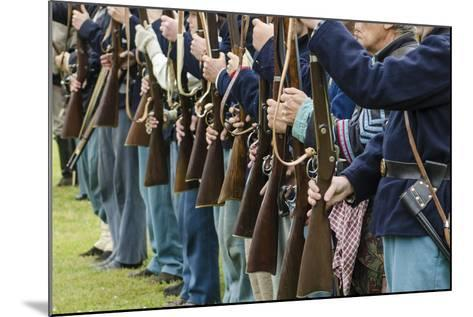 Union Soldiers at the Thunder on the Roanoke Civil War Reenactment in Plymouth, North Carolina-Michael DeFreitas-Mounted Photographic Print