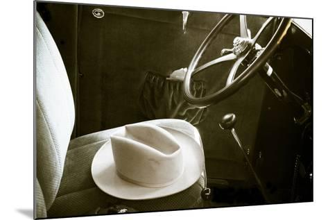 Interior of an Antique Car, Santa Fe, New Mexico-Julien McRoberts-Mounted Photographic Print