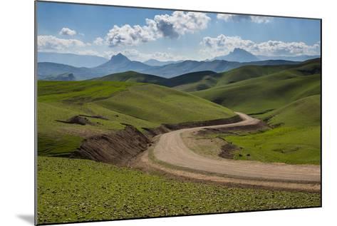 Road Leading Through Green Scenery around Darbandikhan Artificial Lake on Border of Iran, Kurdistan-Michael Runkel-Mounted Photographic Print