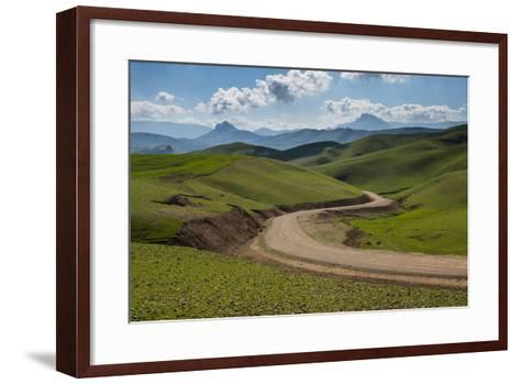 Road Leading Through Green Scenery around Darbandikhan Artificial Lake on Border of Iran, Kurdistan-Michael Runkel-Framed Art Print