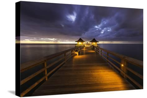 Twilight at the Naples Pier, Naples, Florida, Usa-Brian Jannsen-Stretched Canvas Print