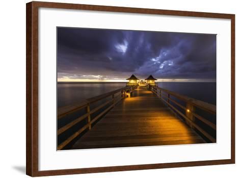 Twilight at the Naples Pier, Naples, Florida, Usa-Brian Jannsen-Framed Art Print