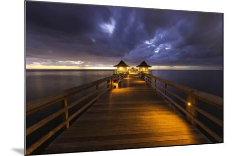 Twilight at the Naples Pier, Naples, Florida, Usa-Brian Jannsen-Mounted Photographic Print