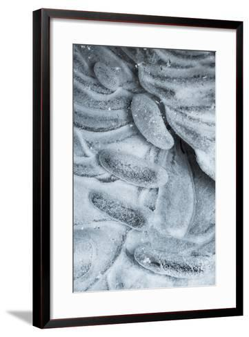 Utah. Abstract Lines and Designs Formed by Ice in Ice Box Canyon, Near Moab Utah-Judith Zimmerman-Framed Art Print