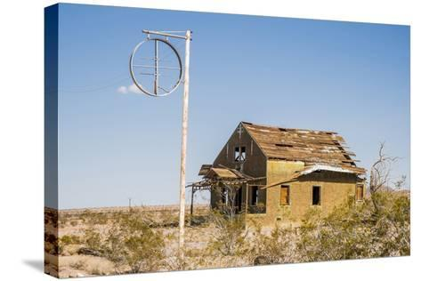 California, Drought Spotlight 3 Route 66 Expedition, Ludlow, Abandon Building-Alison Jones-Stretched Canvas Print