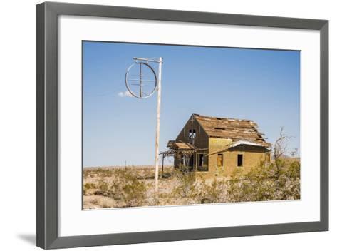 California, Drought Spotlight 3 Route 66 Expedition, Ludlow, Abandon Building-Alison Jones-Framed Art Print