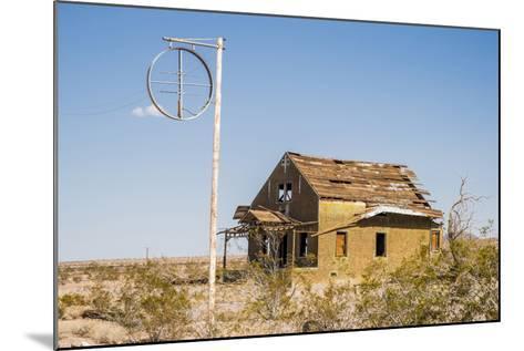 California, Drought Spotlight 3 Route 66 Expedition, Ludlow, Abandon Building-Alison Jones-Mounted Photographic Print