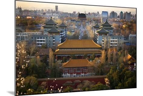 Jinshang Park Looking North at Drum Tower, Beijing, China, Overview-William Perry-Mounted Photographic Print