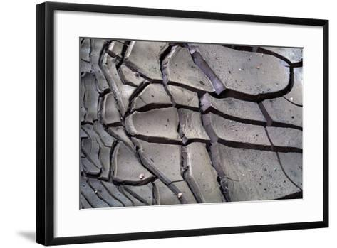 Arizona-Utah Border, Vermilion Cliffs National Monument, Drying Mud Pattern in Buckskin Gulch-John Barger-Framed Art Print