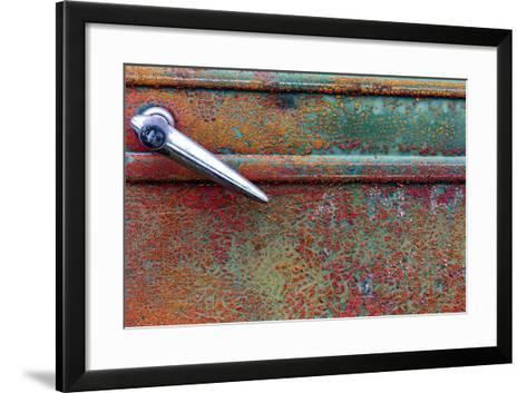 Rusty Old Truck Details Near Salmo, British Columbia, Canada-Chuck Haney-Framed Art Print