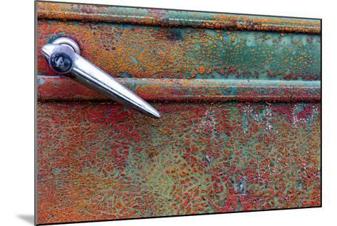 Rusty Old Truck Details Near Salmo, British Columbia, Canada-Chuck Haney-Mounted Photographic Print