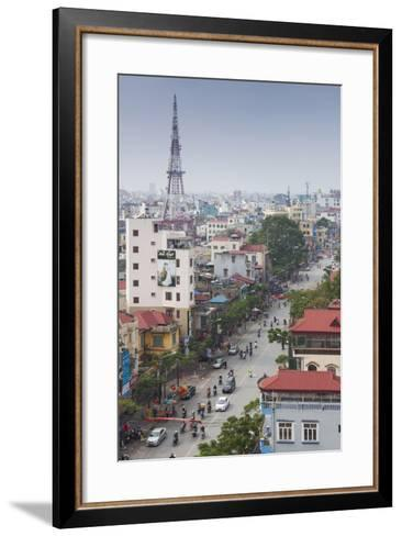 Vietnam, Haiphong, Elevated City View-Walter Bibikow-Framed Art Print