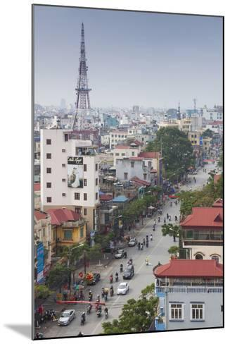 Vietnam, Haiphong, Elevated City View-Walter Bibikow-Mounted Photographic Print