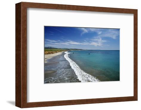 California Central Coast, San Simeon, William Randolph Hearst Memorial Beach-David Wall-Framed Art Print
